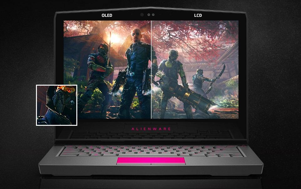 Dell Alienware 13, OLED displej; herní notebook