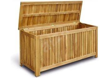 Dřevěné úložné boxy