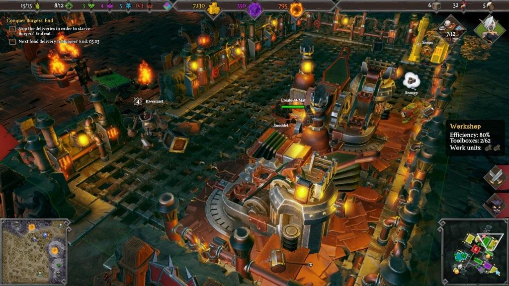 Dungeons 3; Gameplay: dílna