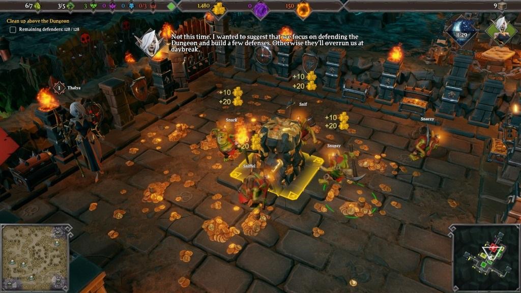 Dungeons 3; Gameplay: těžení zlata