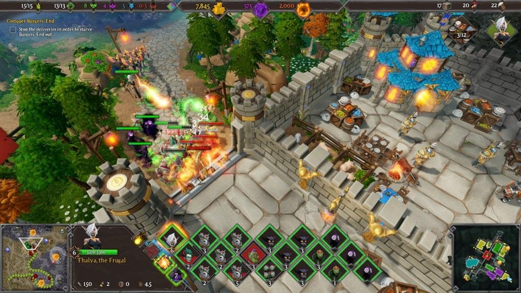 Dungeons 3; Gameplay: souboj, lidské město