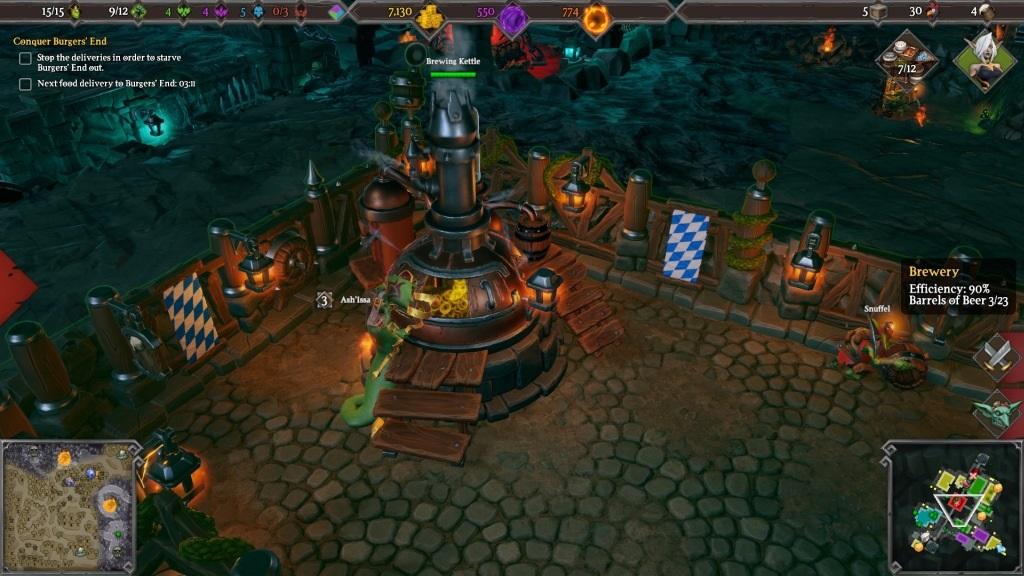 Dungeons 3; Gameplay: pivovar