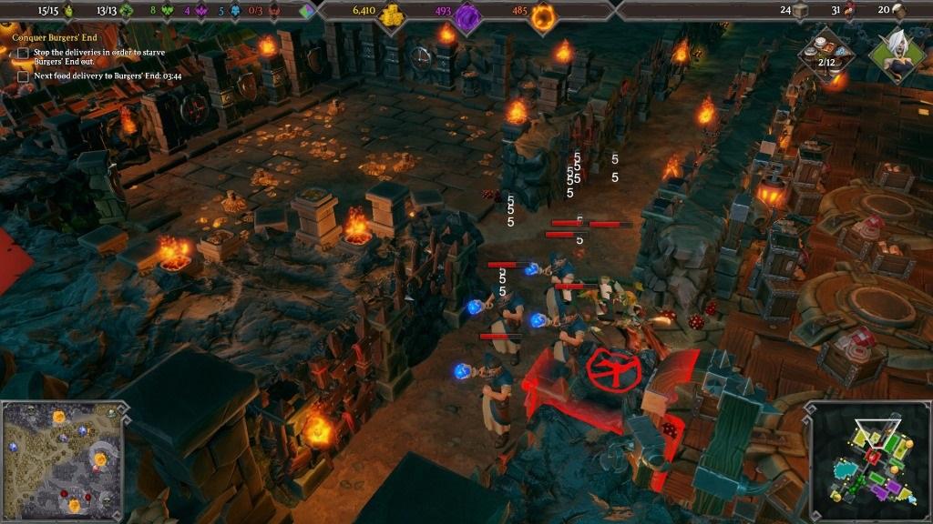 Dungeons 3; Gameplay: souboj, jednotky