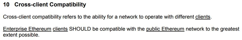EEA blockchain standard
