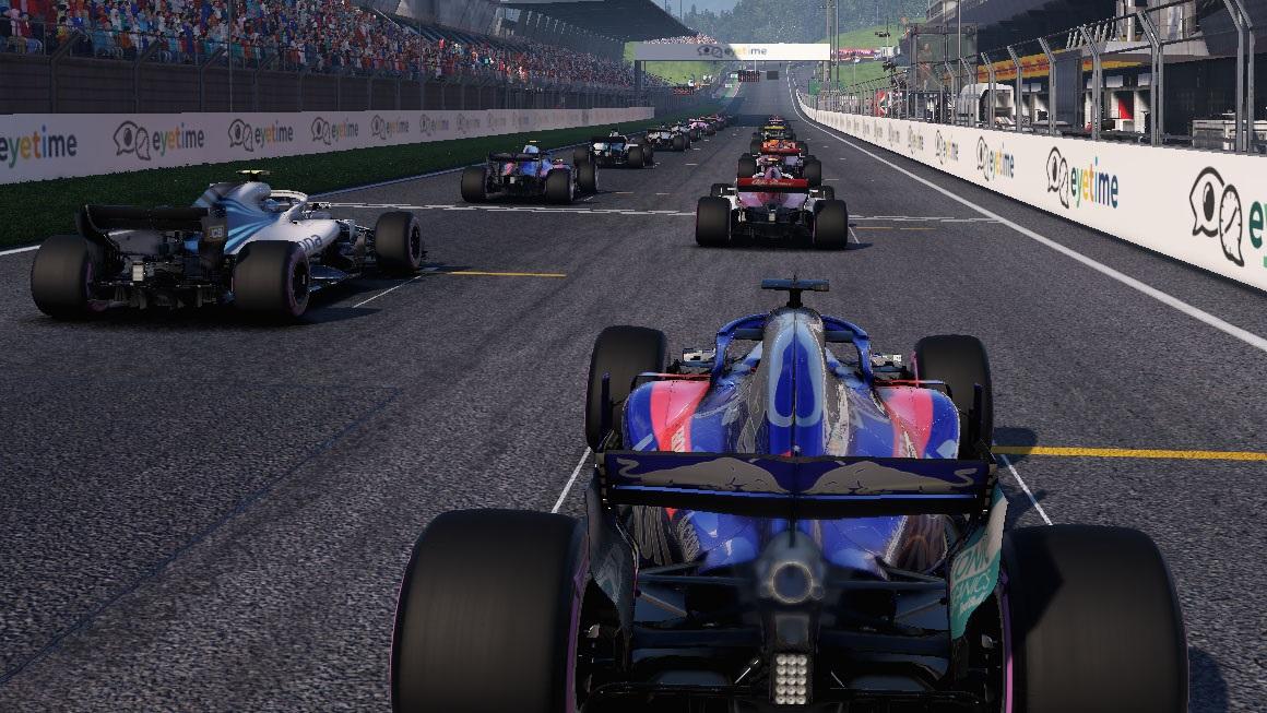 F1 2018 - kvalita obrazu NVIDIA