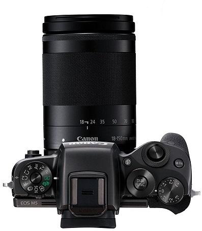 Canon EOS M5 ovládání shora