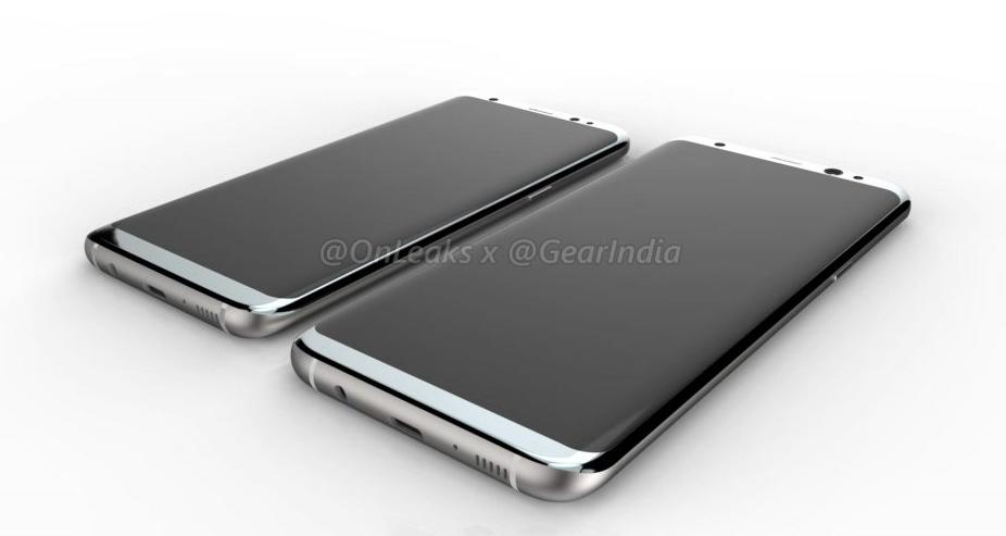 Samsung Galaxy S8, čelní strana