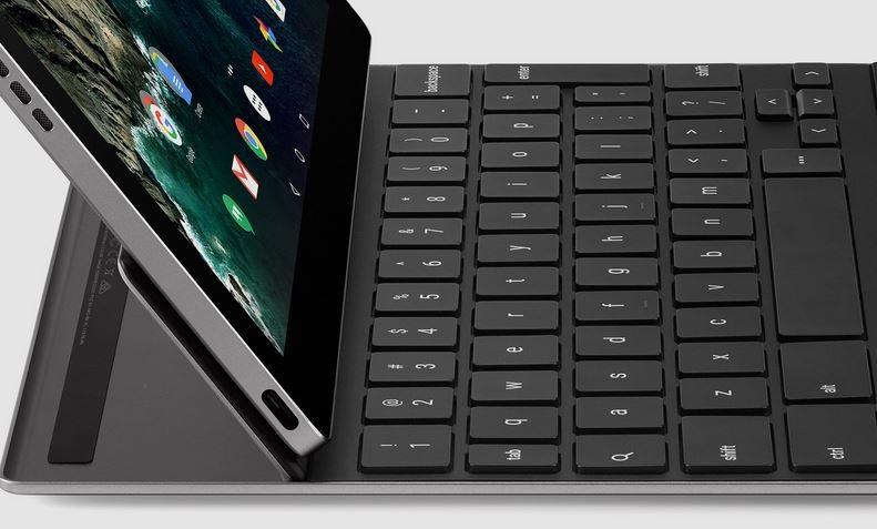Google Pixel C; klávesnice, výklopná ploška