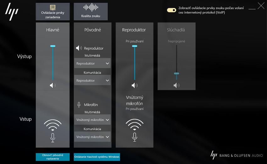 ZBook17G5; Audio panel