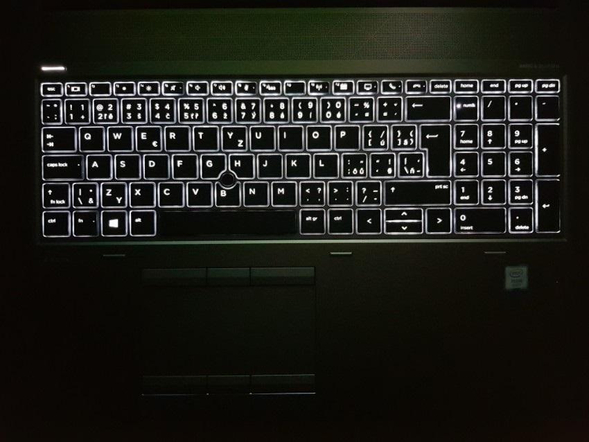 ZBook17G5; podsvícení