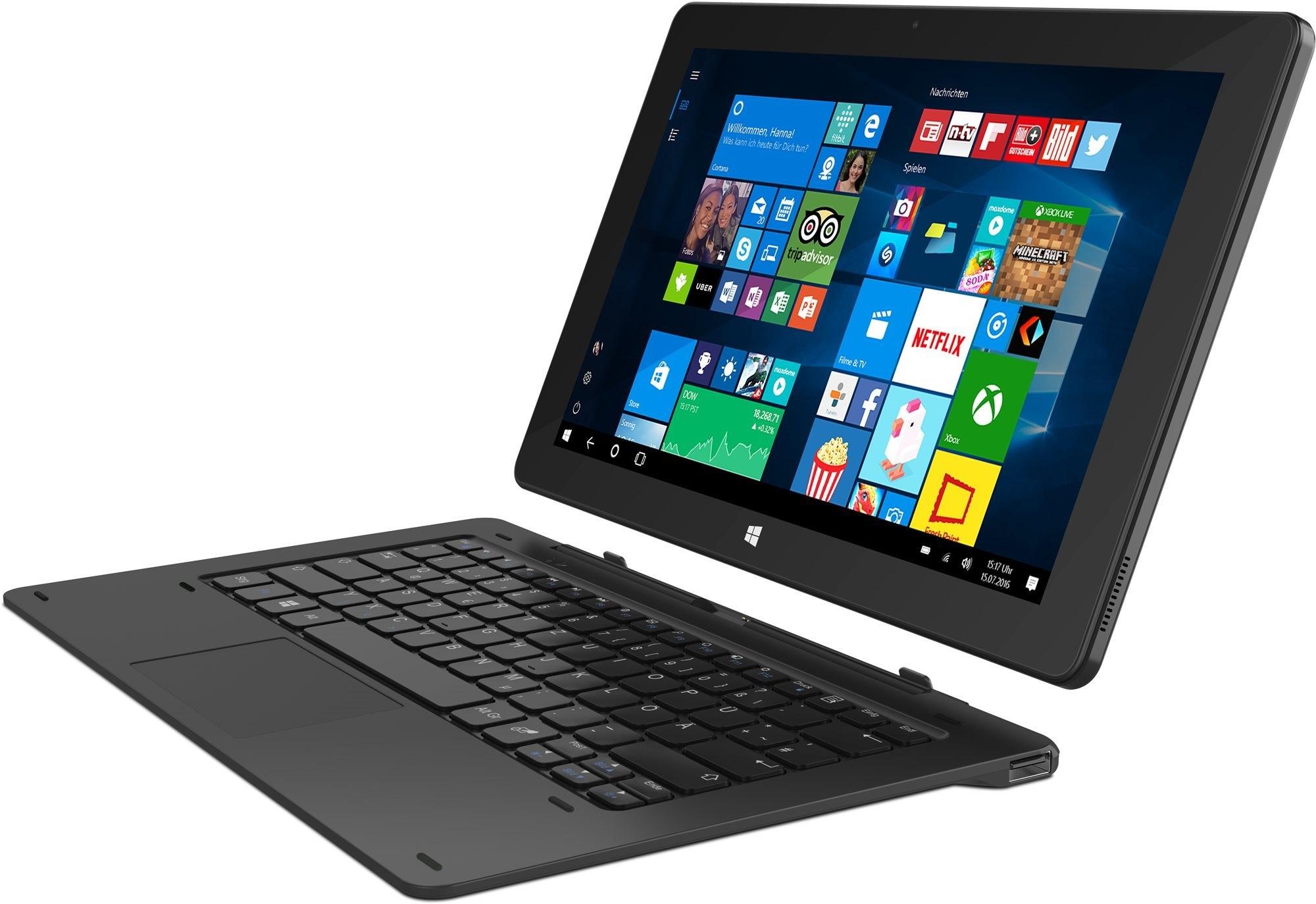 Hvězdný tablet v režimu notebook
