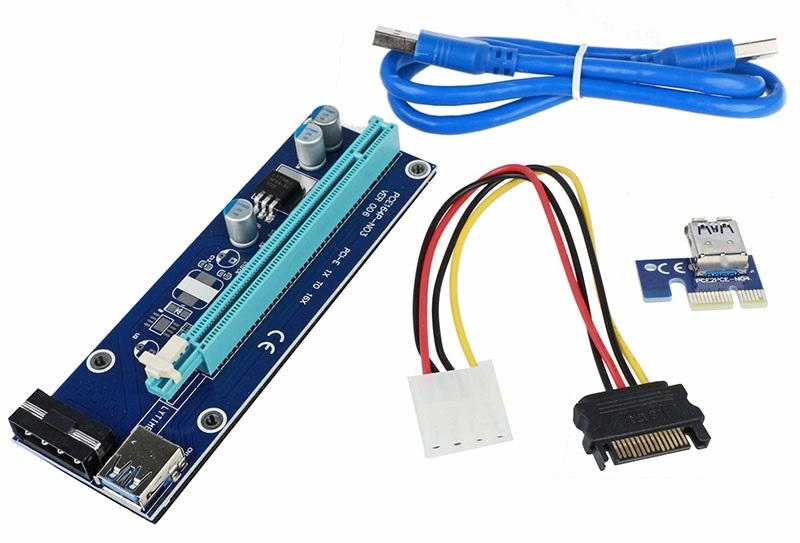PCIe riser s napájením