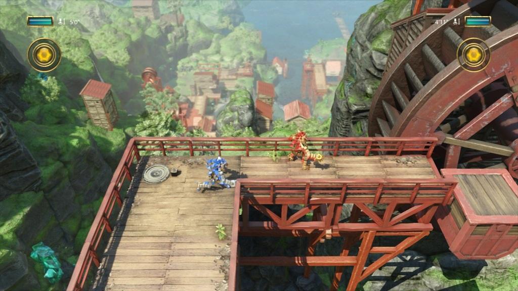 Knack 2; Gameplay: multiplayer, hrdinove