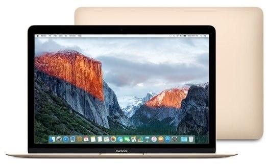 MacBook ve zlaté barvě