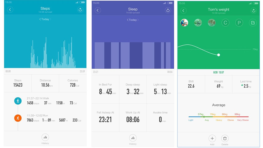 Xiaomi Mi Band 2 - aplikace