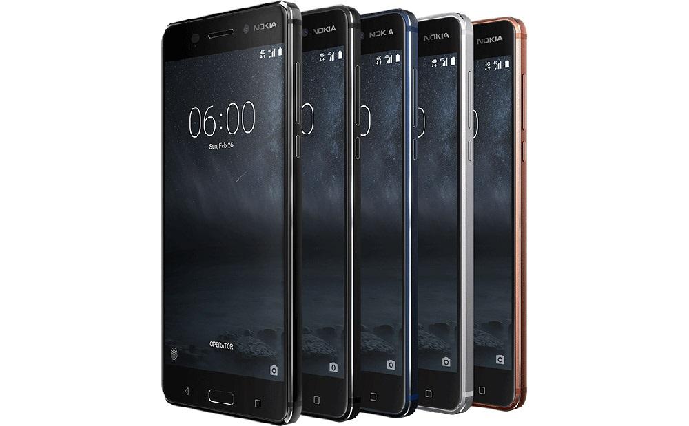 Nokia 6, barevné varianty