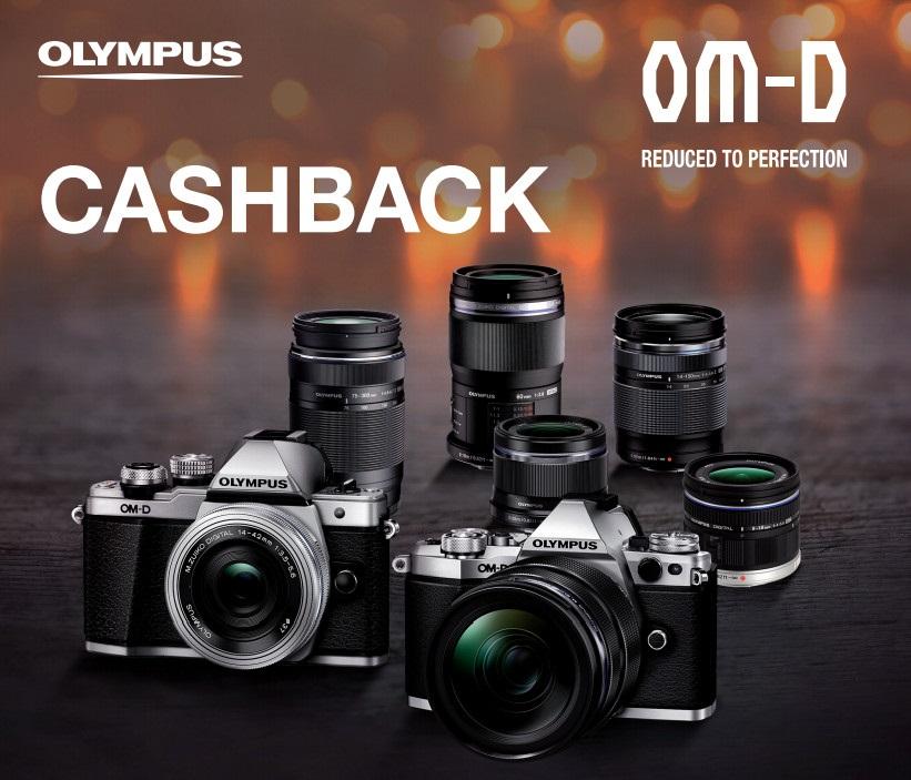 Olympus CashBack akce fotoaparáty objektivy