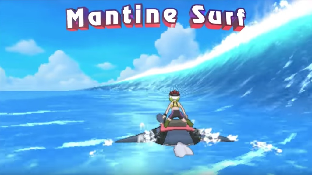 Pokémon Ultra Sun and Ultra Moon; Wallpaper: Mantine Surf