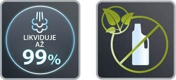 Parní čistič Rowenta RY6555WH Steam Power Extreme Brush likviduje 99 % bakterií
