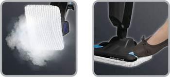 Parní čistič Rowenta RY6555WH Steam Power Extreme Brush s návlekem z mikrovlákna