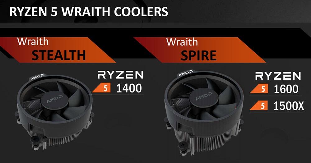 Procesory AMD Ryzen, chladiče