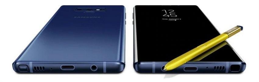 Samsung Galaxy Note9, spodní strana