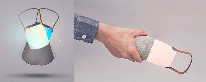 Světelné efekty zatřesením a naklopením; Samsung Sound Bottle