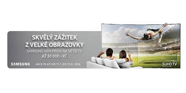 Samsung vám přidá až 30 tisíc na větší TV