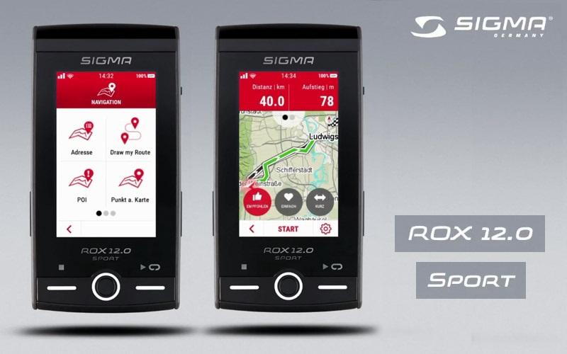 Sigma ROX 12.0; cyklonavigace, navigace