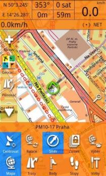 Smartmaps Locator - grafické prostředí aplikace