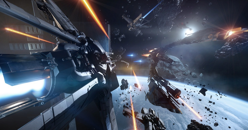 Star Citizen; Wallpaper: vesmírná loď, bitva
