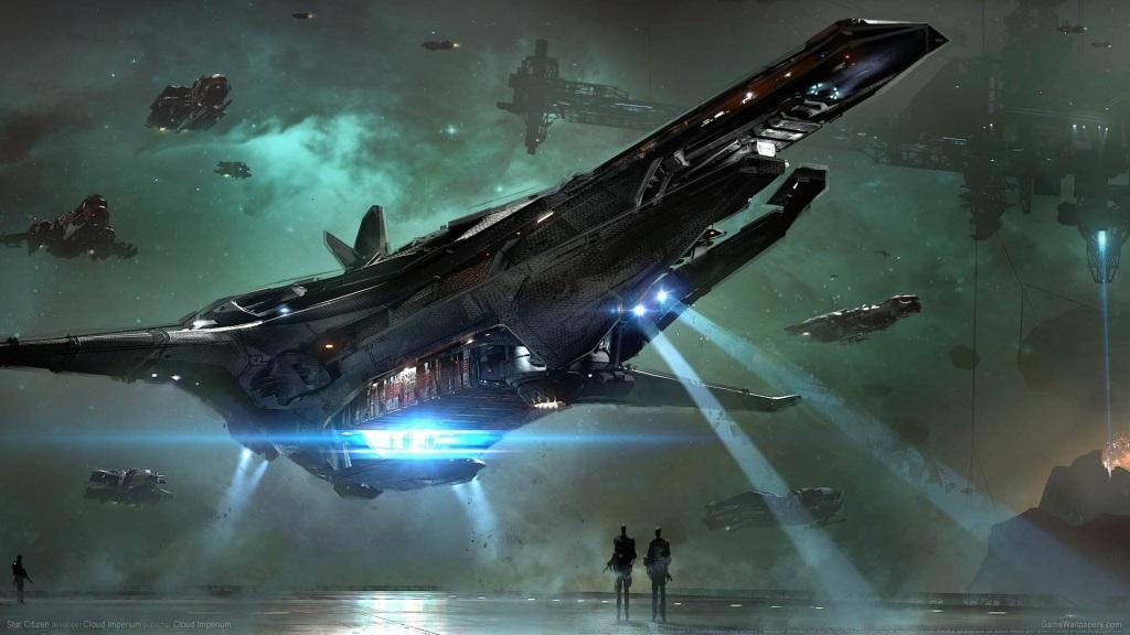 Star Citizen; Wallpaper: vesmírná loď