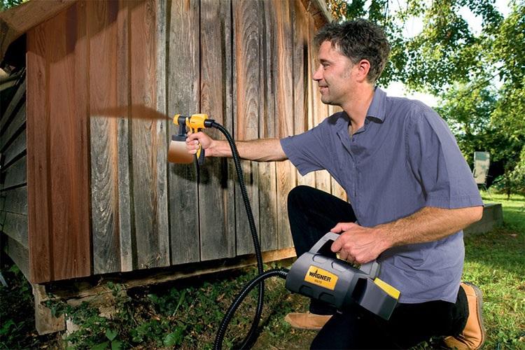 Stříkací pistole dřevo zahradní nábytek garáž