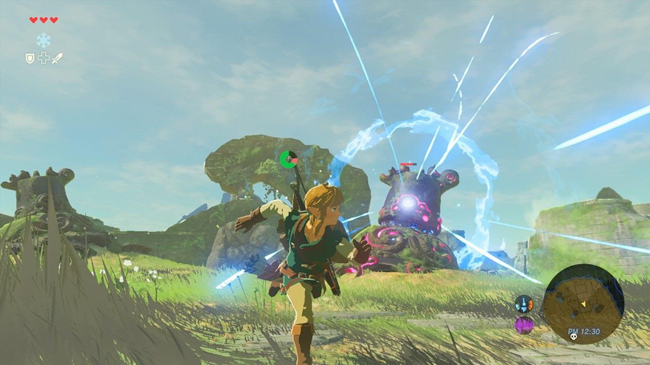 The Legend of Zelda: Breath of the Wild; Link v akci