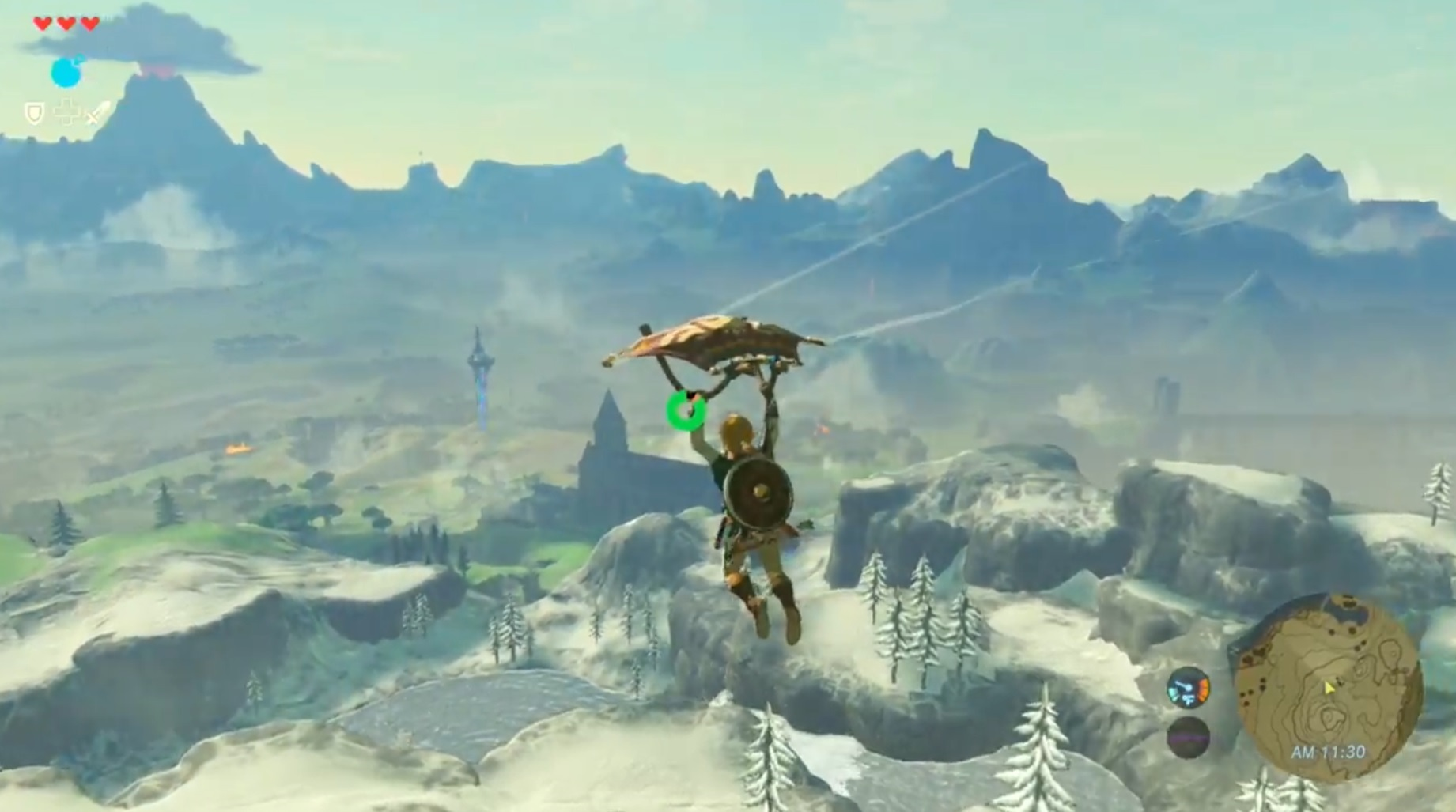 The Legend OF Zelda: Breath Of The Wild, paragliding