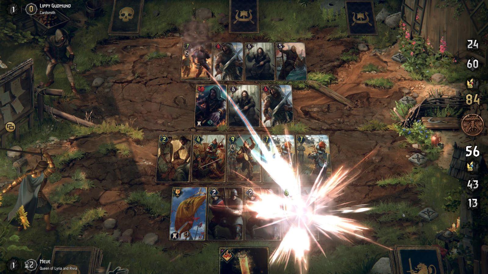 Thronebreaker: The Witcher Tales; screenshot: bitva