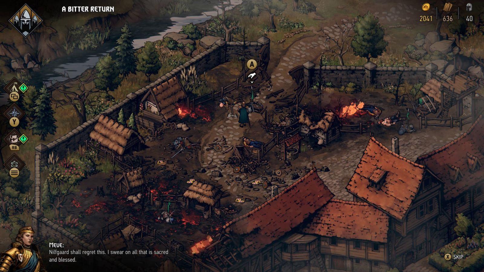 Thronebreaker: The Witcher Tales; screenshot: Nilfgaard