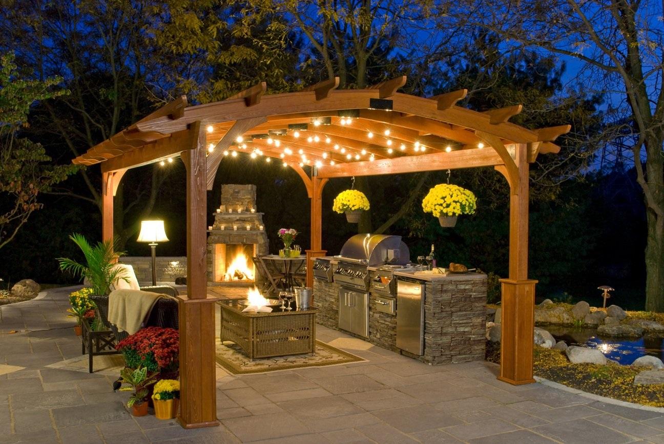 Zahradní osvětlení; pergola