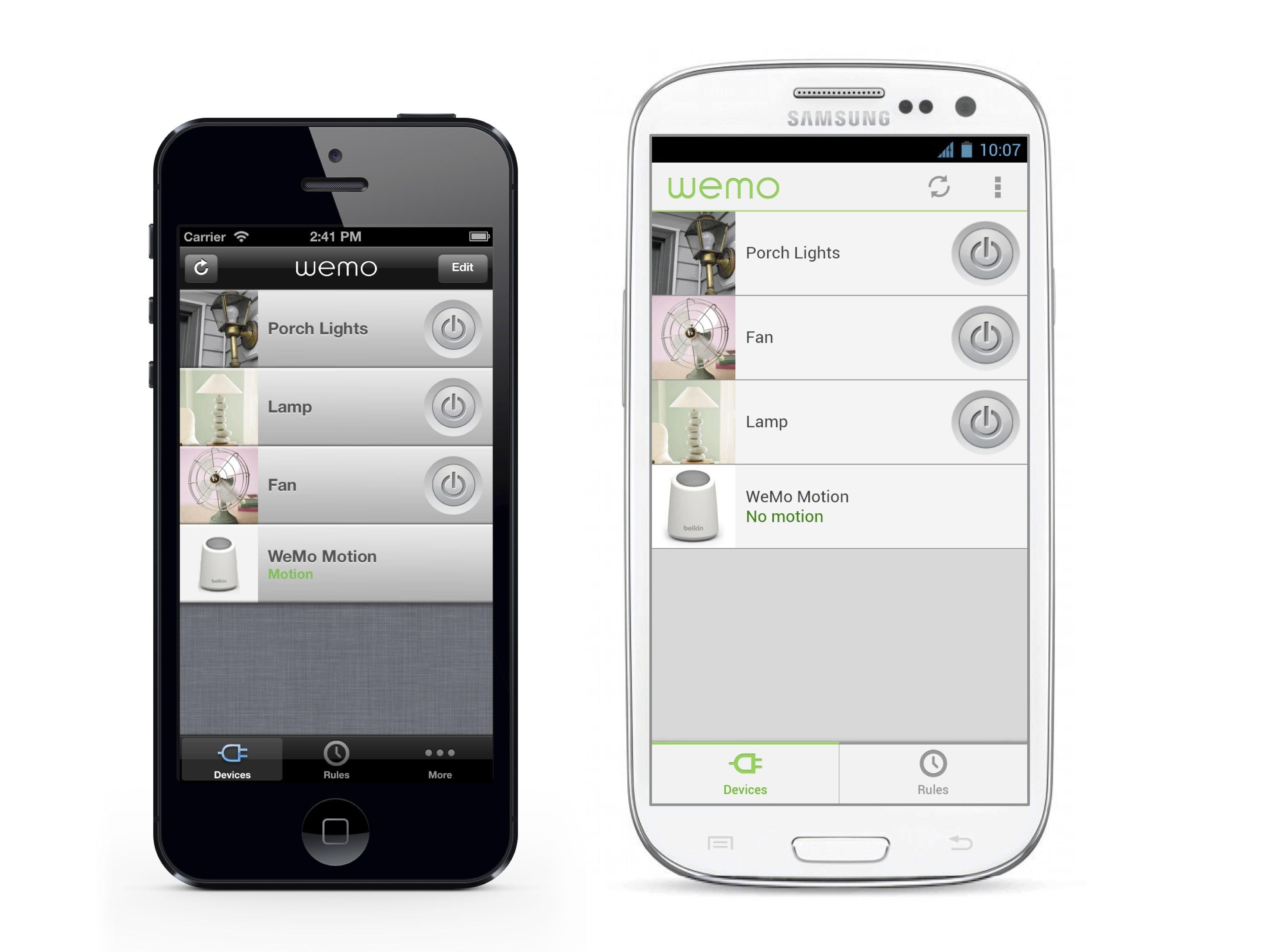 Aplikace WeMo