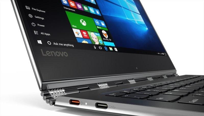 Lenovo Yoga 910, Vdetail pantů