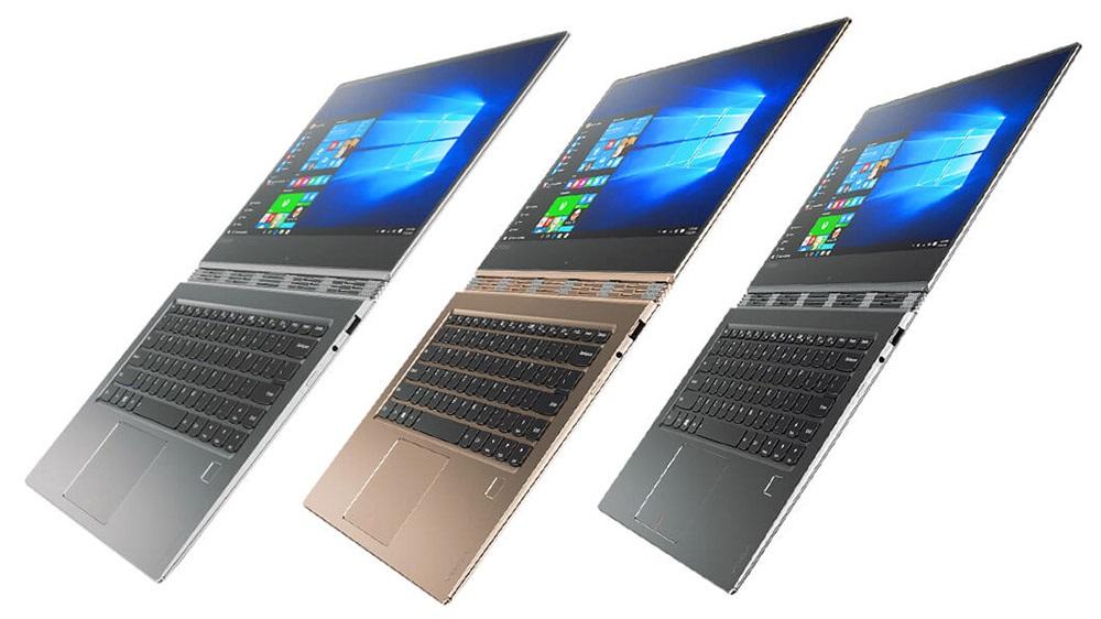 Lenovo Yoga 910, Champagne Gold, Platinum Silver a Gunmetal