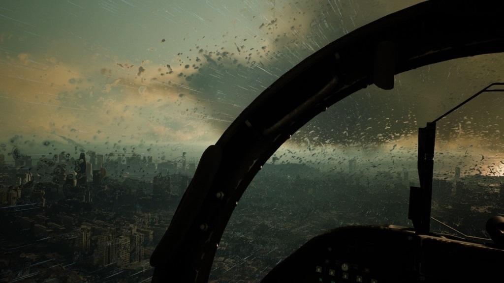 Ace Combat 7: Skies Unknown; screenshot: déšť