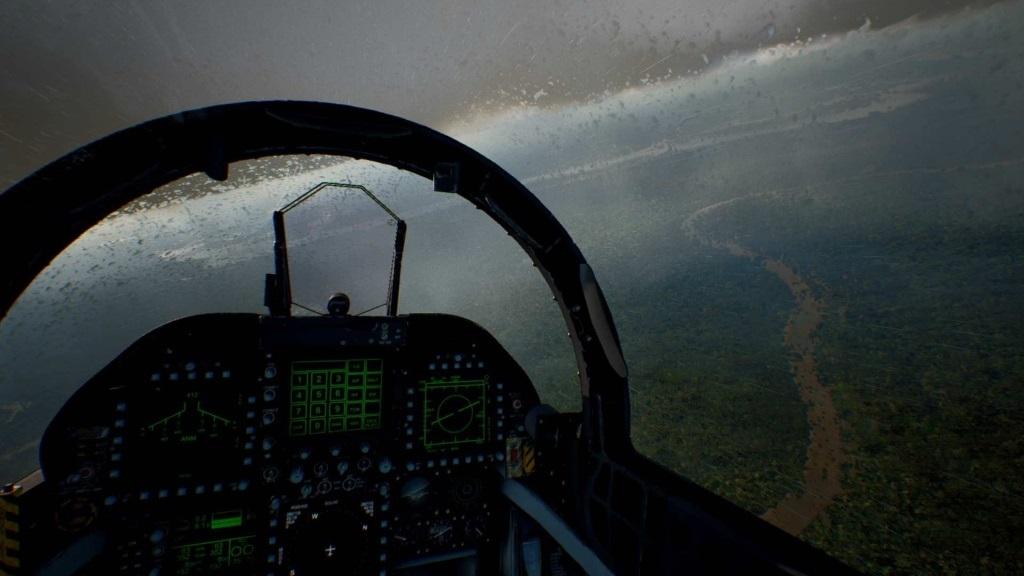 Ace Combat 7: Skies Unknown; screenshot: kapky deště