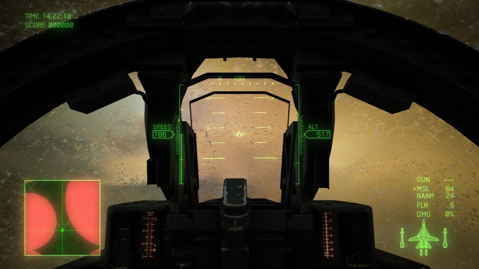Ace Combat 7: Skies Unknown; gameplay: déšť