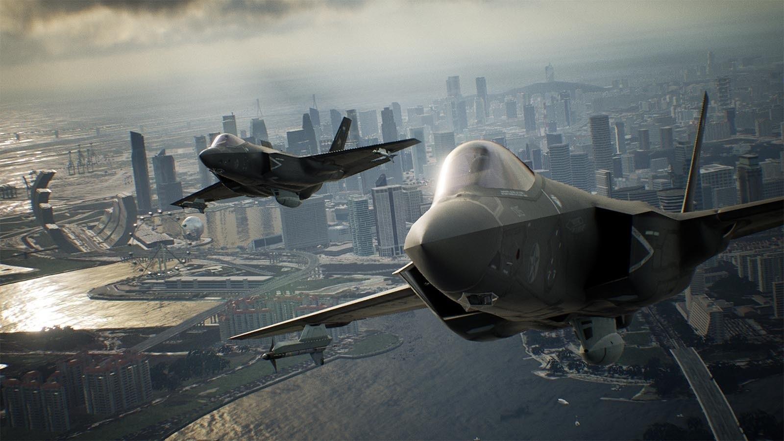 Ace Combat 7: Skies Unknown; screenshot: F-22A Raptor