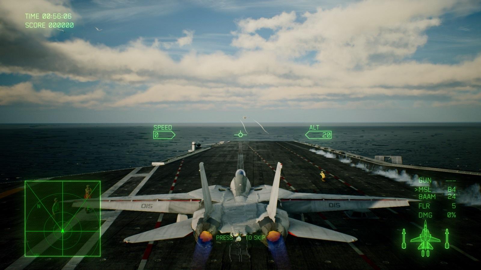 Ace Combat 7: Skies Unknown; gameplay: letadlová loď