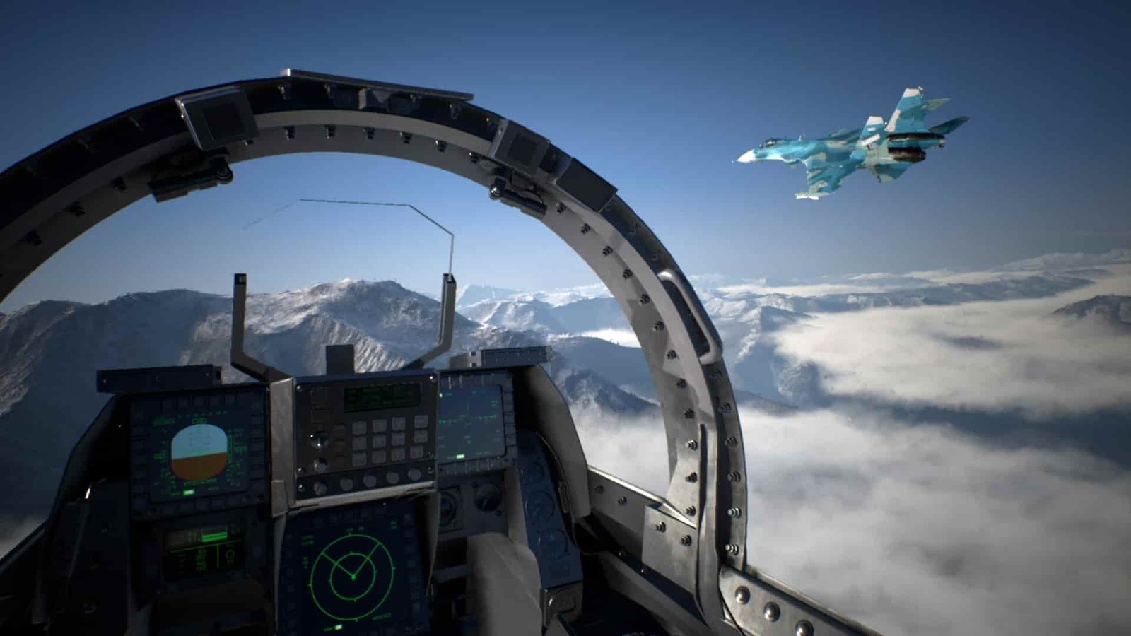 Ace Combat 7: Skies Unknown; gameplay: PS VR
