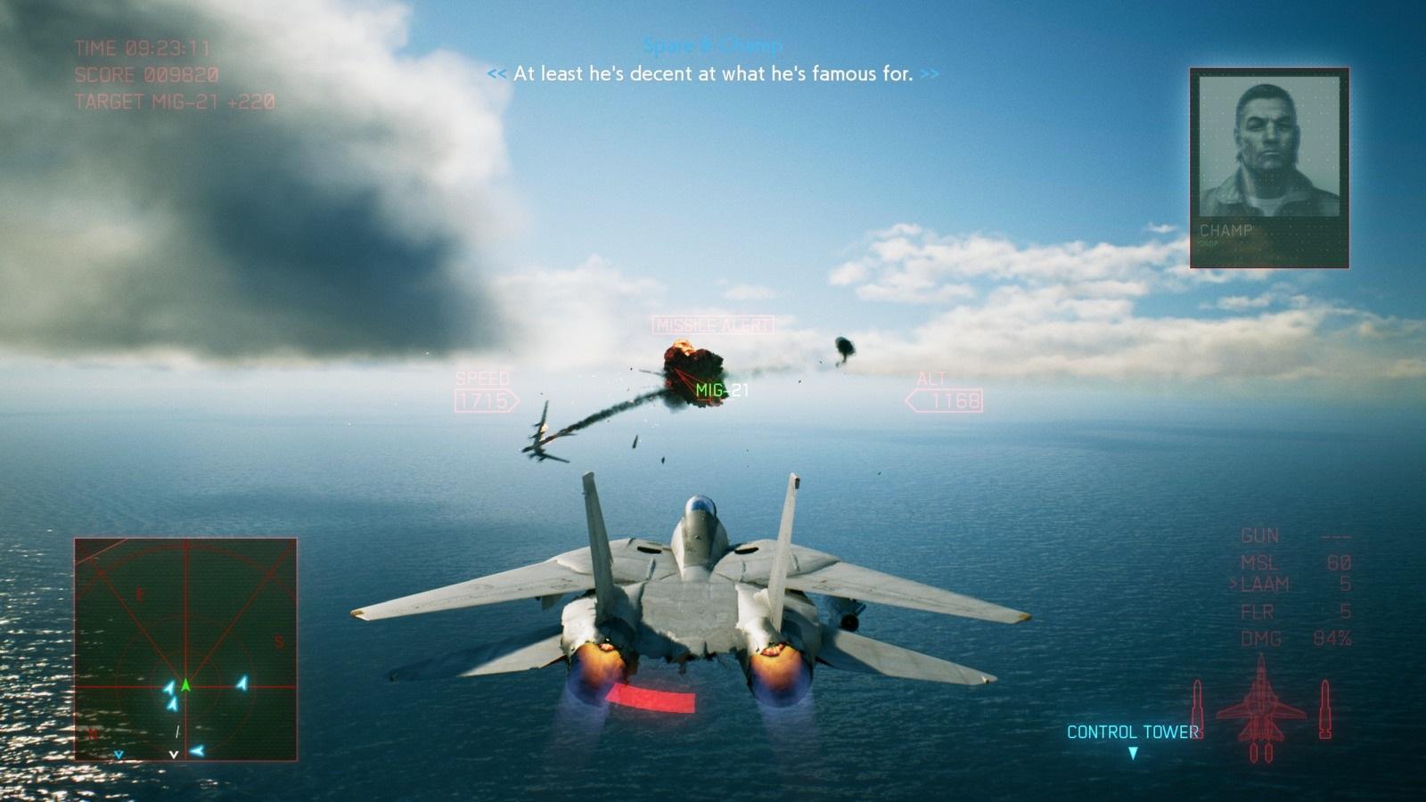Ace Combat 7: Skies Unknown; gameplay: souboj