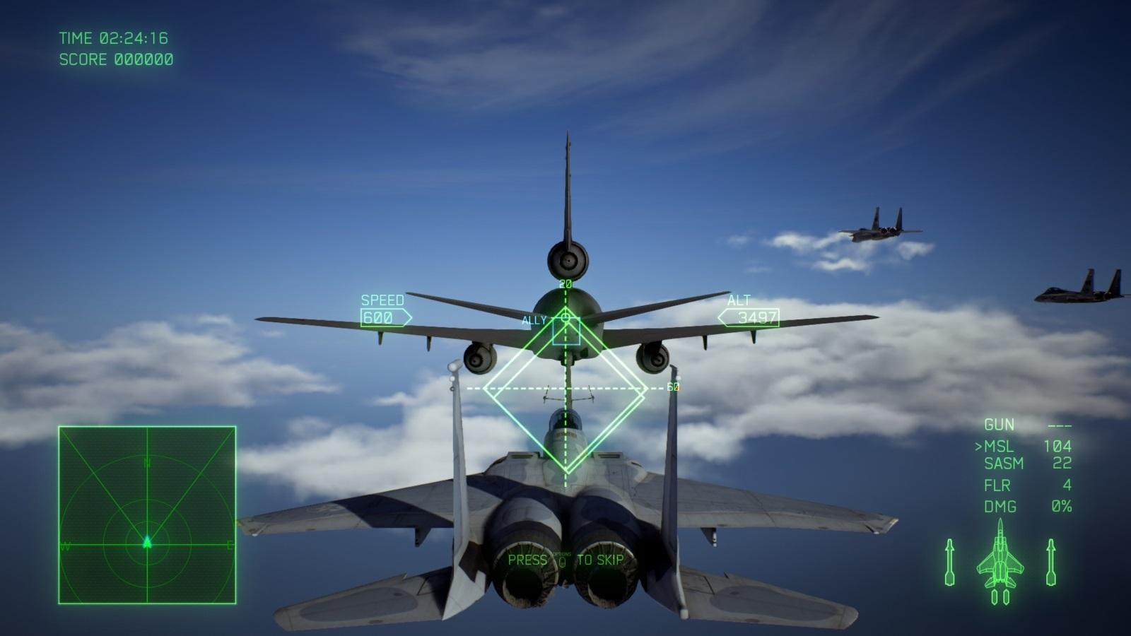 Ace Combat 7: Skies Unknown; gameplay: tankování za letu