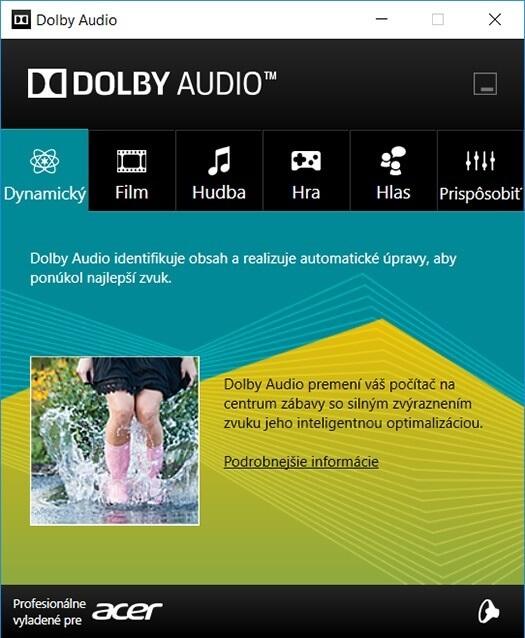 Acer Nitro 5 – Dolby Audio driver